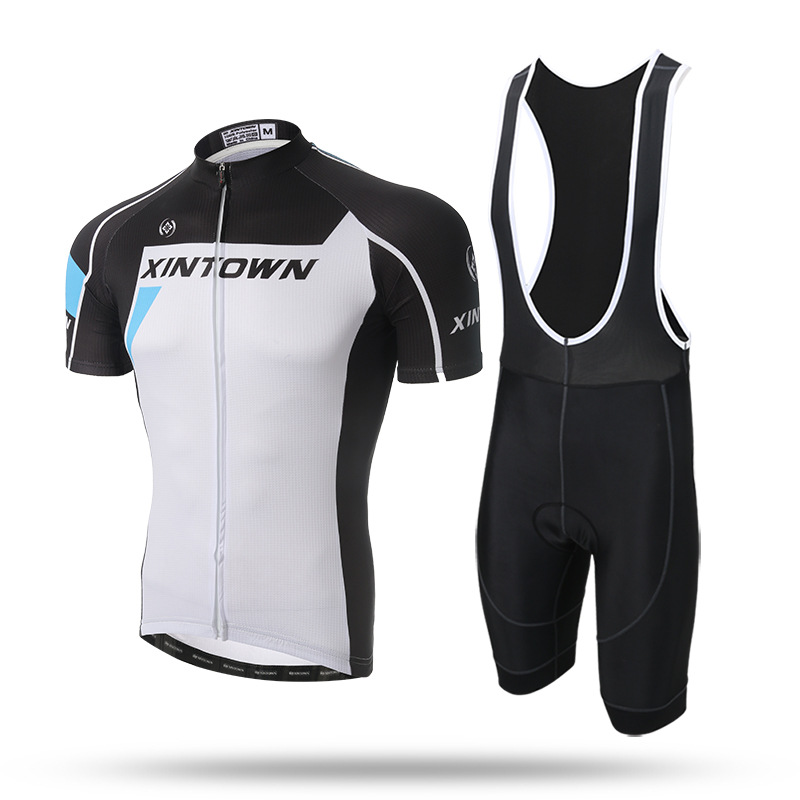 New Men White Short Cycling Set Pro Team Short Sleeve Quick Dry Jersey Shirt GEL Pad Bib Shorts MTB Bike Bicycle Suit Ciclismo 2016 new men s cycling jerseys top sleeve blue and white waves bicycle shirt white bike top breathable cycling top ilpaladin