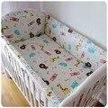 Promoção! 6 PCS conjunto de cama bordado berço berço Bumpers folha ( bumper + ficha + fronha )