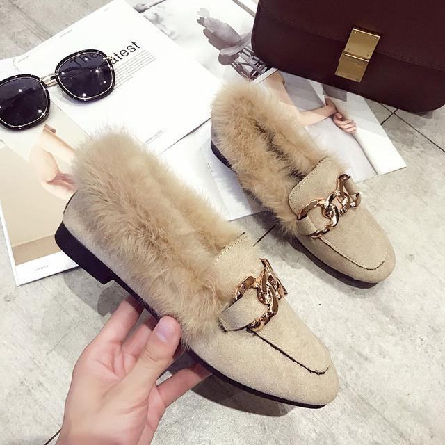 designer ladies shoes woman slip on loafers women flats luxury brand fur mules zapatillas mujer casual slides sapatos feminino