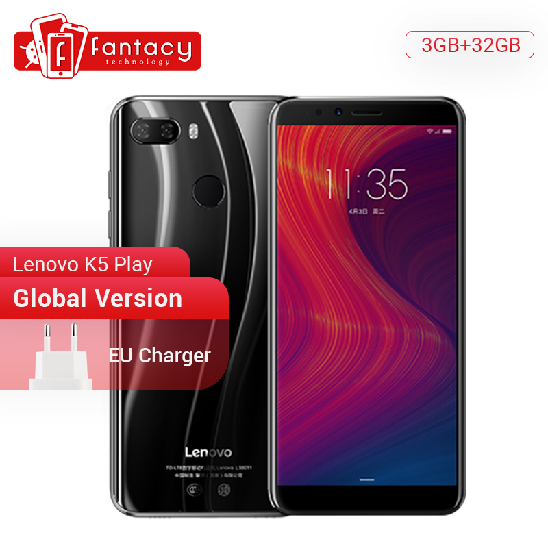 "Global Version Lenovo K5 Play 3GB 32GB Snapdragon 430 Octa Core Smartphone 1.4G 5.7"" 18:9 Fingerprint Android 8 13.0MP Camera