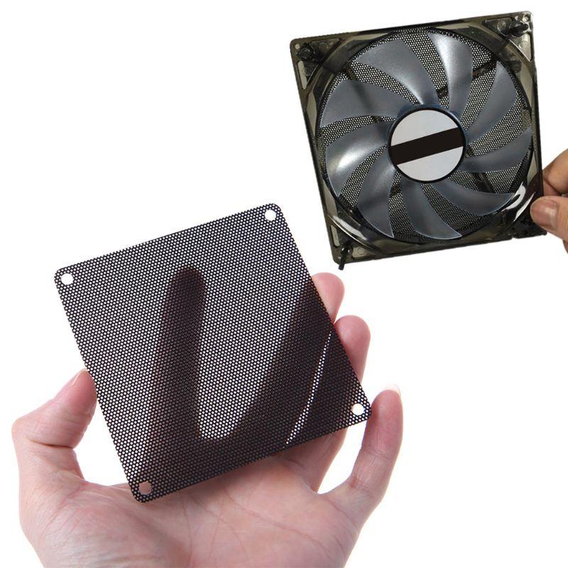 10PCS 120MM PVC Fan Dust Filter PC Dustproof Case Cuttable Computer Mesh Cover Black