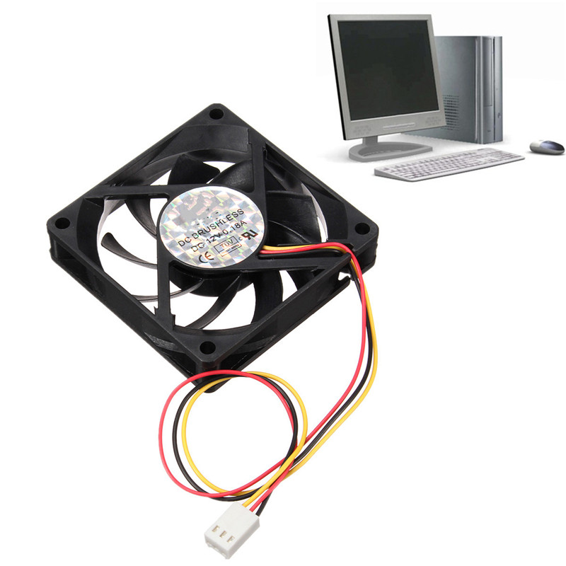 New Arrival 70*70*15mm DC 12V 3Pin Interna l Desktop Computer CPU Case Cooling Cooler Silent Fan 7cm фигурка декор 7 3 5 см башмачок со стразами 1132834