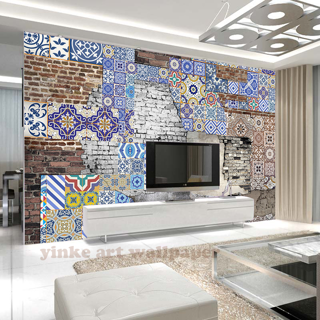 3d TV Backdrop Wallpaper Modern Return To Ancients Bohemian Style Wall Mural Living Room Of