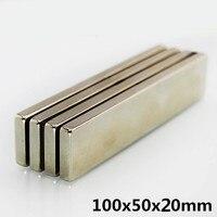 1PC Square Block 100x50x20 Magnet 100mm x 50mm x 20mm Rare Earth N35 Neodymium 100*50*20