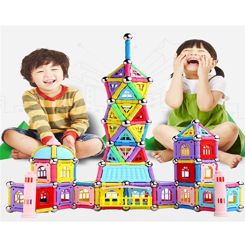84/37/103 шт. Магнитная игрушки палочки строительные блоки набор детей развивающие игрушки для детей магниты Рождественский подарок на день ро... ...