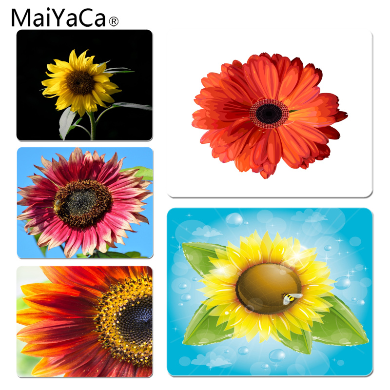 MaiYaCa Non Slip PC Beautiful Sunflower Computer Gaming Mousemats Size for 18x22cm 25x29cm Rubber Mousemats