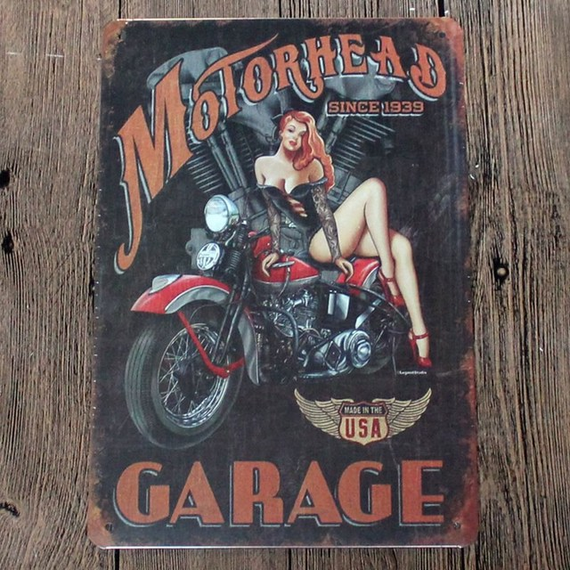 Motor Head Garage Since 1939 Made In USA Vintage Home Decor 20*30 ...