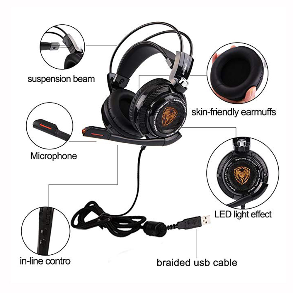 fb656b2da99 Somic G941 7.1 Sound Vibration Gaming Headset Stereo Bass Noise Cancelling  Headphones with Mic LED Light USB Plug for PC Games-in Headphone/Headset  from ...