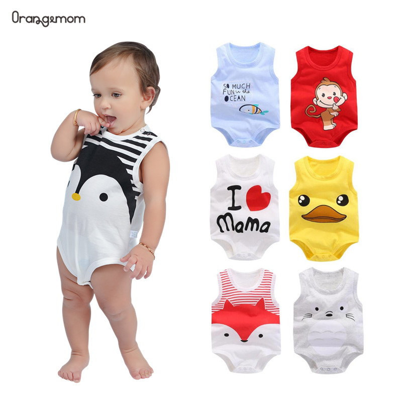 Orangemom Summer 2019 Baby Bodysuit Cute Penguin Style One Pieces Jumpsuit Cheap Baby Boy Clothes Newborn Vest Clothes Baby Boy