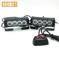 2*4 LED liga de alumínio conduziu a lâmpada de flash slitless vara lâmpada de alta potência da lâmpada telhado luzes led truck car strobe luz