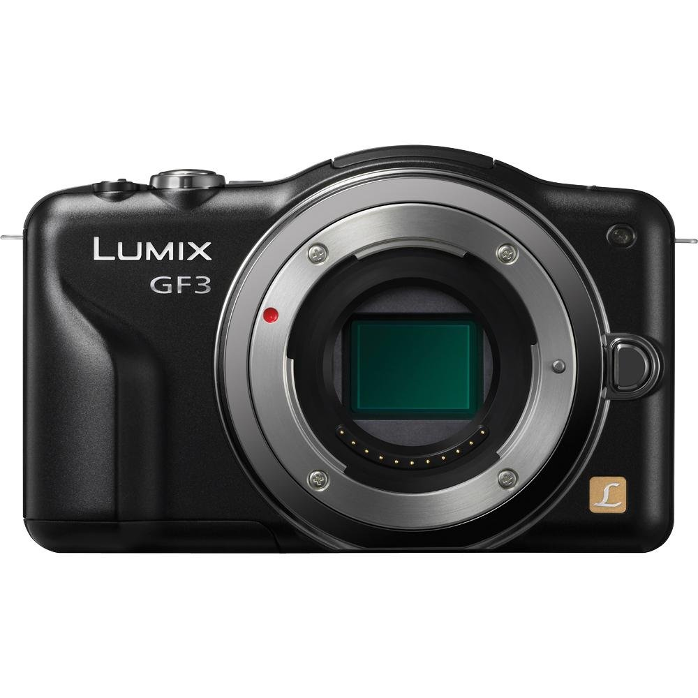 USED,Panasonic Lumix DMC-GF3 12 MP Micro 4/3 Mirrorless Digital Camera with 3-Inch Touch-Screen LCD Body Only (Black)USED,Panasonic Lumix DMC-GF3 12 MP Micro 4/3 Mirrorless Digital Camera with 3-Inch Touch-Screen LCD Body Only (Black)