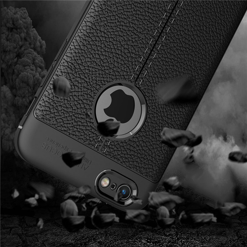 Shockproof Case for iPhone X 8 7 6 6S Plus SE 5 Full Protection Silicone Luxury Leather Soft TPU For Iphone 5s Back Cover
