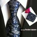 QXY PRÉ casamento de moda mens bolso praça lenço banquete poliéster paisley tecida gravata dos homens gravata de seda T042