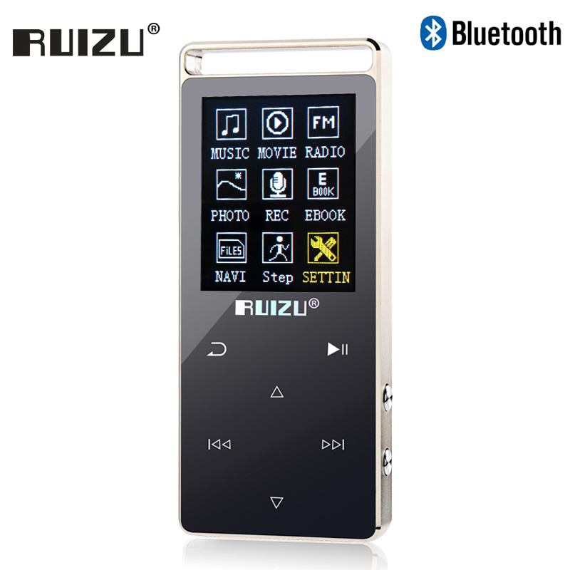 Original RUIZU D01 Metal HIFI Bluetooth MP3 Player Touch Screen 8GB Play 100hours high q ...