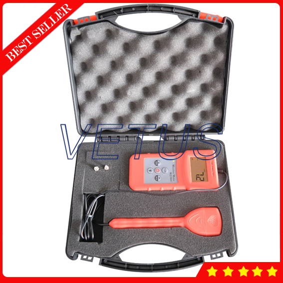 MS7200 2 Pin Wood Moisture Meter for Timber Paper Moisture Content Testing Equipment mc 7806 wood moisture meter detector tester thermometer paper 50% wood to soil pin