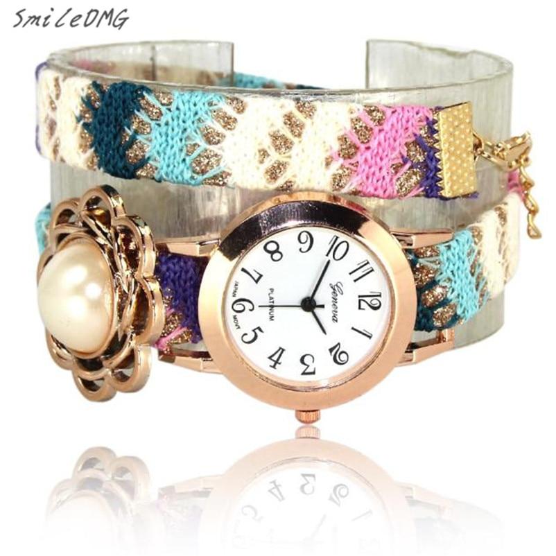 56755c8c4 SmileOMG Hot Sale Da Moda Moda Casual Bonito Mulheres Das Meninas Das  Senhoras Quartz Pulseira de Couro Relógio de Pulso Presente Frete Grátis