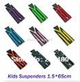 משלוח חינם-1.5x65cm ילדים כתפיות בנים/בנות Suspender אלסטי גשר סלים Suspender 22colors לערבב Y-חזרה כתפיות/גאלוס