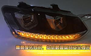 Image 4 - Чехол для стайлинга автомобиля, 2 шт., для фар Polo, 2011, 2012, 2013, 2014, 2015, светодиодный задний фонарь для polo, ДХО, линзы с двойным лучом, HID Xenon