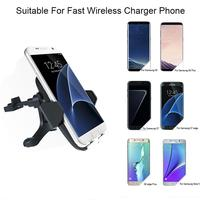 Qi Fast Wireless Charger Air Vent Car Phone Holder For Samsung Galaxy Note 8 S8 S7 S6 Edge Plus Note 5 Car Wireless Charging Pad