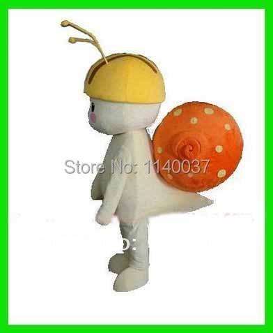 NO.1 MASCOT Professional Hardworking Little Snail Mascot Costume Snail Cartoon Character Mascotte Outfit Suit Fancy Dress
