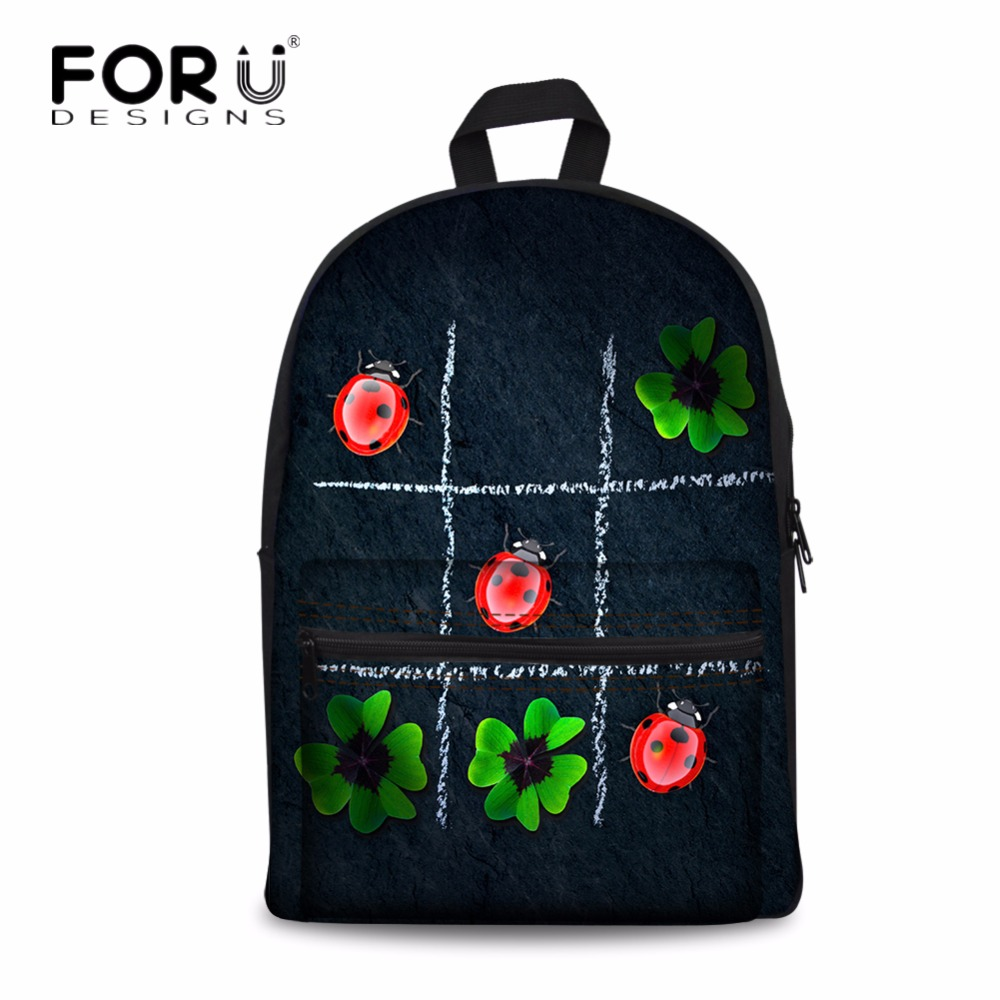 Bags for high school students - Forudesigns Creative Pattern Puzzle Printed School Bags For Boys Cotton Schoolbags For Teenagers High School Student Book Bag