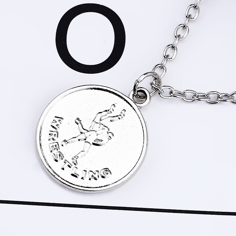 Trendy round necklace for men wrestling pendant powerful wrestling trendy round necklace for men wrestling pendant powerful wrestling dad pendantsnecklaces sport series double sided dropshipping in pendant necklaces from aloadofball Image collections