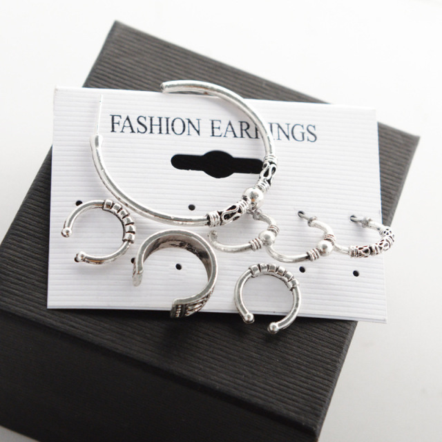 Quality Bohemia 7 pcs Earring Circle Set