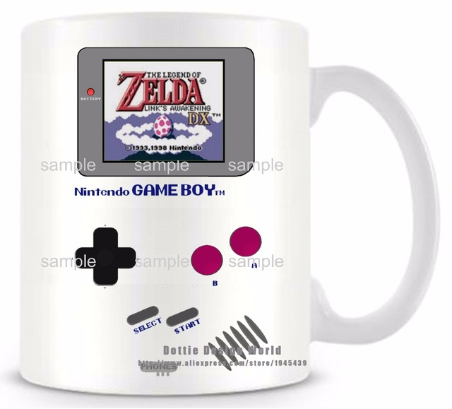 DIY New Gameboy Ceramic white coffee tea milk mug Pokemon funny novelty travel cup Personalized Birthday Easter gifts 3