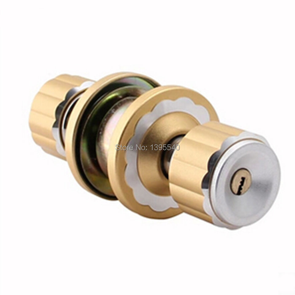 New 60mm Mechanical Indoor Door Lock Black Cylindrical Ball with Key Pure Lock Core Golden Modern Lock Wooden Door Ball Lock ceramic lock the door when indoor european ball lock hold hand lock copper core ss