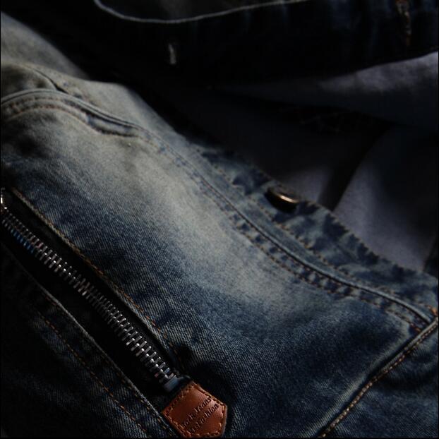 2016 new hot spring autumn Men Jeans Jacket Overcoat Parkas coat Retro Slim short plus size 4XXXXL cotton Leisure fashion