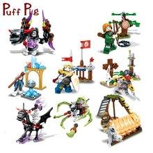 Cavaleiro Diabo Figuras Soldados Armas Fantasma Tribos Legoed Esqueleto Brinquedos Educativos Para Crianças Conjuntos de Blocos de Construção Compatíveis