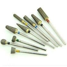 Diş Sinterlenmiş Elmas Bur Parlatıcı 2.35mm 30 adet/grup Diş Laboratuvarı Aracı Kırpma Matkap Metal Seramik Takı