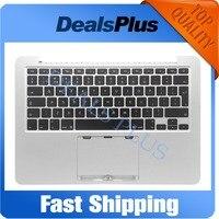 Фирменная Новинка Замена Топ Дело Topcase Упор для рук британской версии с клавиатура с Подсветка для MacBook Pro Retina 13 a1502