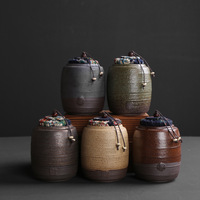 Chinês antigo cerâmica chá vasilha pequena casa de chá cerâmica vasilha de vedação de viagem portátil puer er vasilha acordar|Conj. de chá| |  -