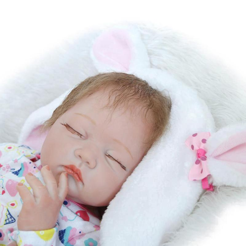 Здесь продается  NPK 55cm Cute Silicone Reborn Baby Doll Kid Sleeping Playmate Soft Toy  Baby Doll Toy Newborn Birthday Gift   Игрушки и Хобби