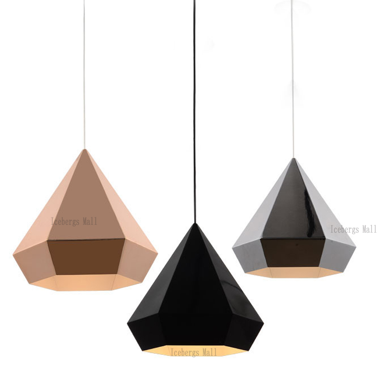 Nordic loft pyramid pendant lights lights lamp american for Luminaire double suspension