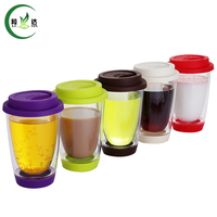 5 Different Styles High Quality Double Deck Heat Resisting Glass Tea Cup Coffee Cup Juice Cup