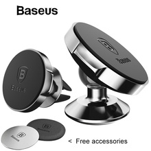 Baseus Magnetic Universal Mobile Cell Phone Holder Stand For Car Air Vent Mount GPS Car Phone Holder