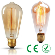 Retro lamp ST64 Vintage Edison bulb E27 Incandescent bulb 110V 220V Holiday lights 40W 60W Filament lamp Lampada for home(China)