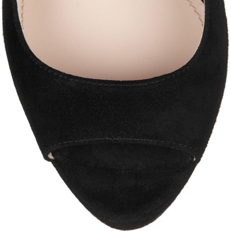026b4f12d42 Woman High Heel Pumps Shoes Black Peep Toe Platform Heels Glitter Chunky  Heels Mary Jane Pumps Round Toe FSJ Crystal Rhinestone -in Women s Pumps  from Shoes ...