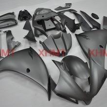 Для YZFR1 2012- Обтекатели YZF1000 R1 2013 полный корпус комплекты для Yamaha YZFR1 2013 материя серый серебристый мотоцикл обтекатель