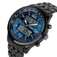 Skmei Relógios Homens Relógio Esportivo de Luxo Relogio masculino de Aço Inoxidável Completa Relógios De Pulso Led Relógio de Quartzo Montre Homme