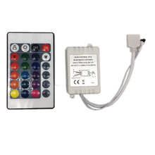 цены 1PCS 24 Keys Dual Connectors IR Remote RGB Controller Output DC12V 2 Ports Dimmer For 3528 5050 SMD RGB LED Strip light Control