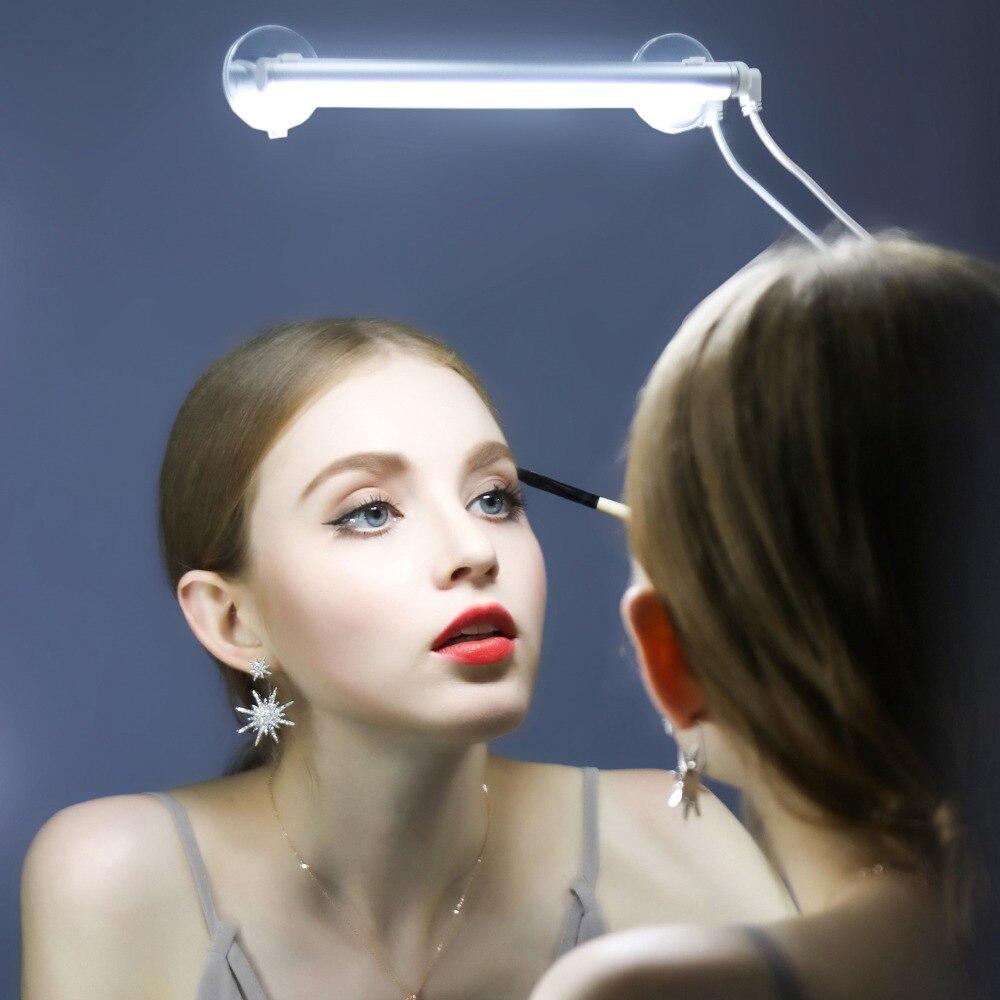 Портативный составляют перед зеркалом свет 3 уровень затемнения сенсорный выключатель светодиодный <font><b>Vanity</b></font> Ванная комната нержавеющей освеще&#8230;