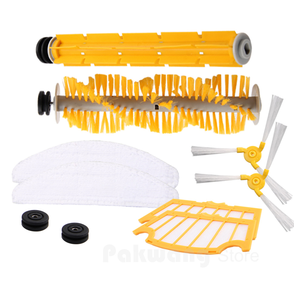 Vacuum Cleaner Parts for A325,Side brush ,Hair brush ,Mop ,Filter for cleaner a320 or a325 hair brush rubber brush for robot vacuum cleaner a320 or a325 vacuum cleaner parts