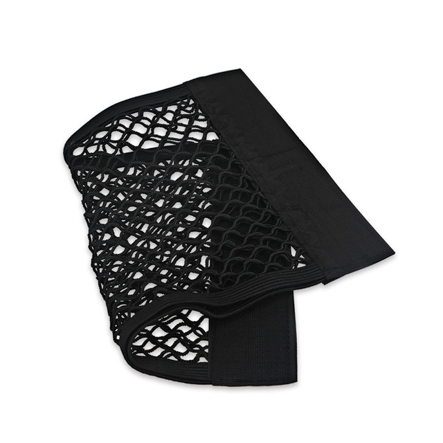 Universal Car Seat Back Storage Bag Holder Auto Net Mesh Pocket Strong Magic Tape Trunk Organizer Car Accessories Auto styling