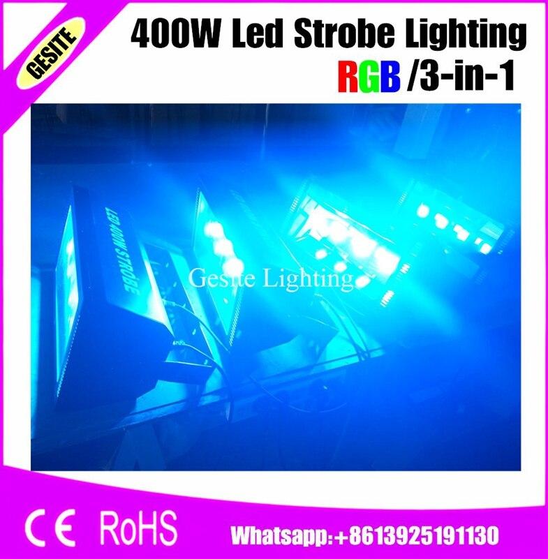 400W RGB 100V-220V Mini DJ Strobe 3IN1 Flash Disco Stage Lighting