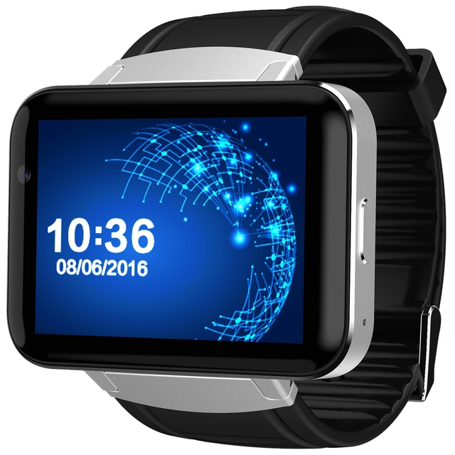 216fdc33144 Original DOMINO DM98 2.2 inch Android 4.4 3G Smartwatch Phone MTK6572 Dual  Core 1.2GHz 4GB ROM Camera Bluetooth GPS Smart Watch