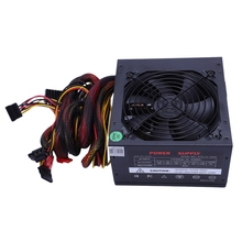 цена на 170-260V Max 650W Power Supply Psu Pfc Silent Fan 24Pin 12V Pc Computer Sata Gaming Pc Power Supply For Intel Amd Computer Eu