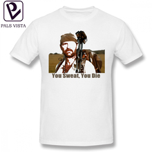 Bushcraft T Shirt Les Stroud You Sweat You Die T-Shirt 100 Percent Cotton Short Sleeves Tee Shirt Plus size  Classic Cute Tshirt jonathan stroud lockwood